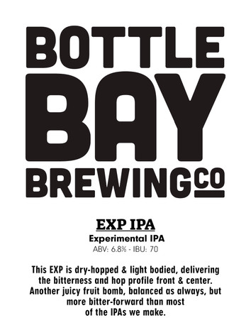 Bottle Bay Brewing Co - Experimental IPA