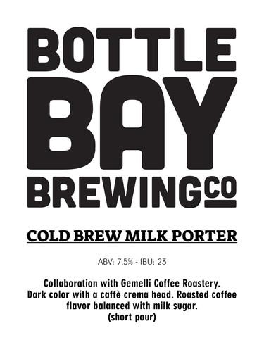 Bottle Bay Brewing Co - Cold Brew Coffee Milk Porter