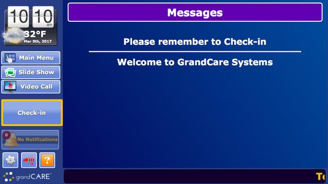 GrandCare Introduces Senior Housing Check-In Button