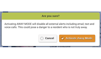 "Introducing one of GrandCare's newest features, ""Away Mode"""