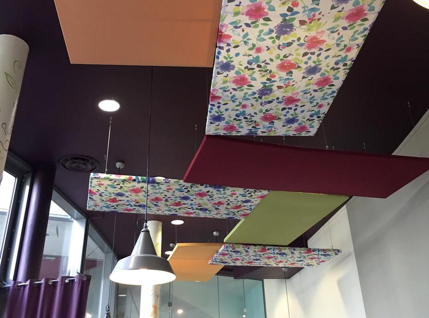 Plafond coloré