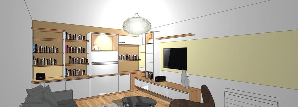 3D de mobilier de salon