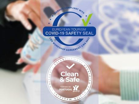 COVID-19 SAFETY SEAL - EUROPEAN TOURISM