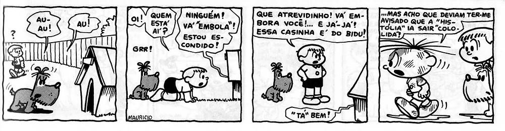 Tira Bidu e Franjinha, Cebolinha