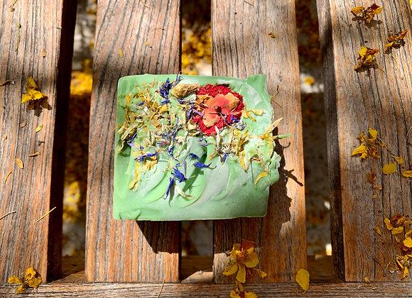 Garden flower Hemp soap