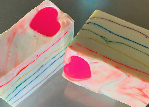 Heart Rainbow Soap