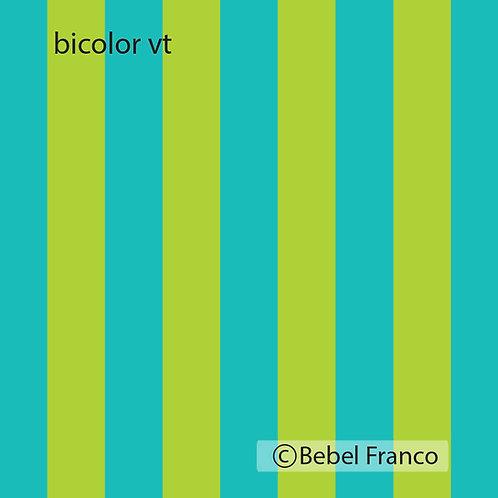 Tecido com estampa para decoração listras coloridas verde turquesa
