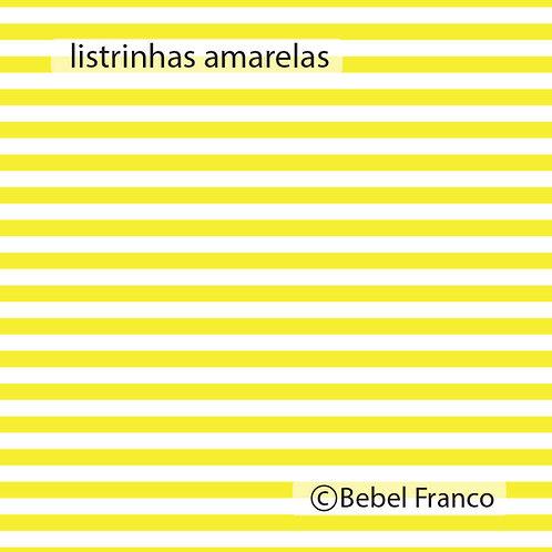 papel de parede listrinhas amarelas