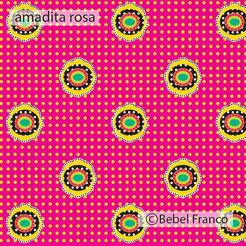 papel de parede infantil estampa amadita rosa
