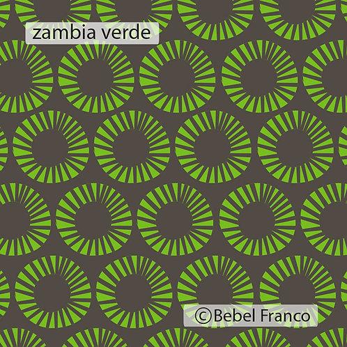 Tecido com estampa para decoração - zambia verde