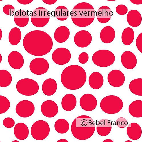 papel de parede bolotas irregulares vermelho