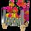 Thumbnail: Tecido com estampa para decoração - abacaxi fundo listras pb
