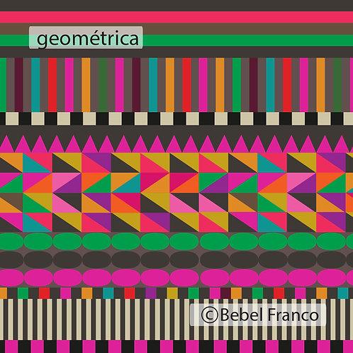 Tecido com estampa para decoração colorida geométrica