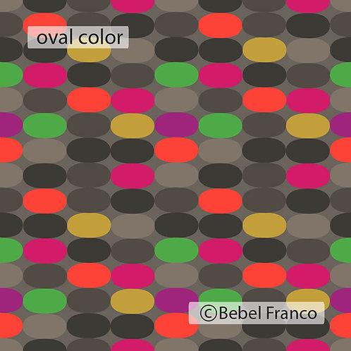 papel de parede colorido oval