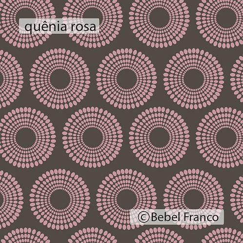 Tecido com estampa para decoração - quênia rosa