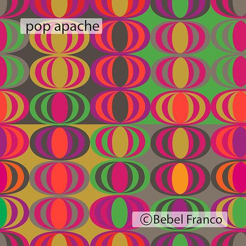 Tecido com estampa para decoração pop apache