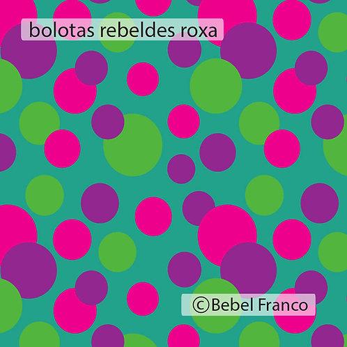 papel de parede bolotas rebeldes roxas