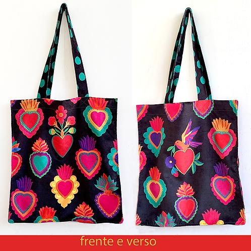 bolsa coração mexicano