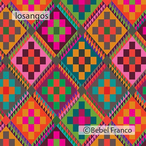Tecido com estampa para decoração losangos