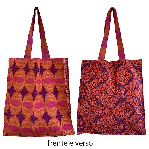 bolsa Pop roxo e laranja