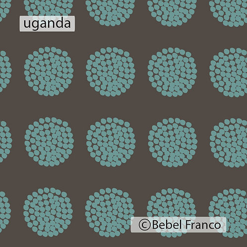Tecido com estampa para decoração - uganda