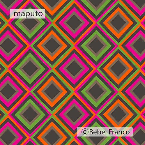 Tecido com estampa para decoração maputo