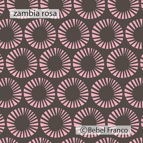 papel de parede zambia rosa