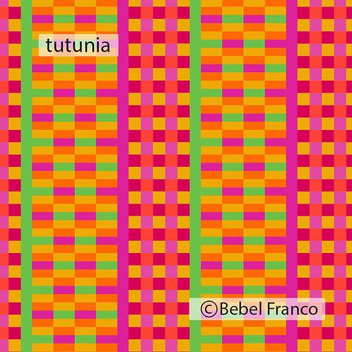 Tecido com estampa para decoração - colorida tutunia