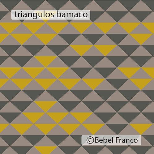 Tecido com estampa para decoração triângulos bamaco