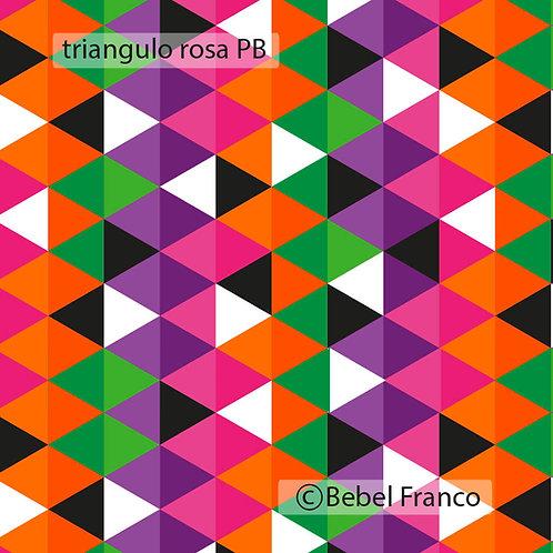 Papel de parede triangulo rosa PB