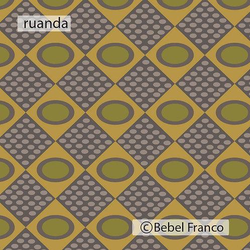 Tecido com estampa para decoração ruanda