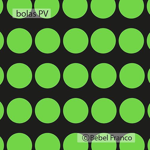 papel de parede bolas verdes com fundo preto