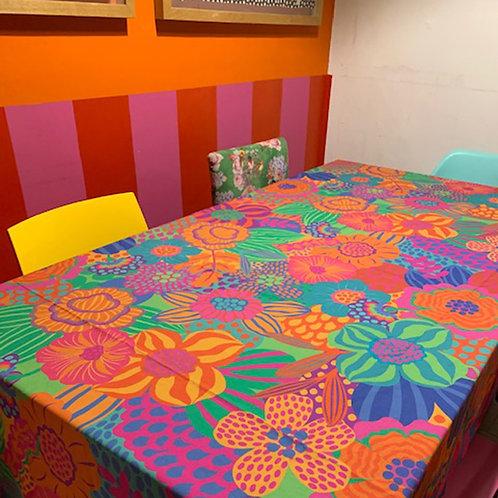 toalha de mesa primavera floral