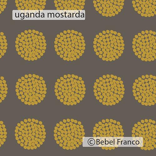 papel de parede uganda mostarda