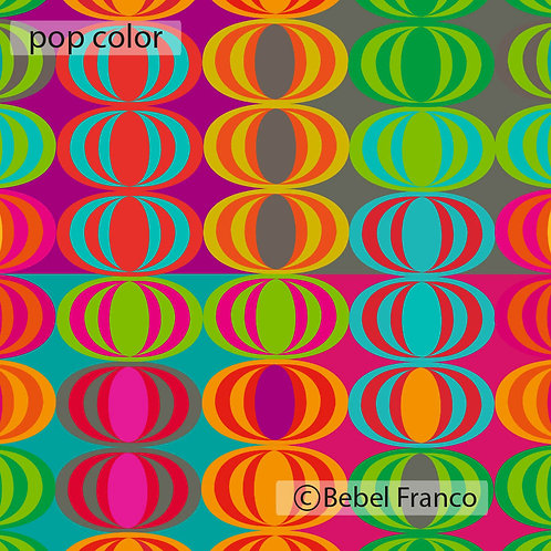 Tecido com estampa para decoração - pop color