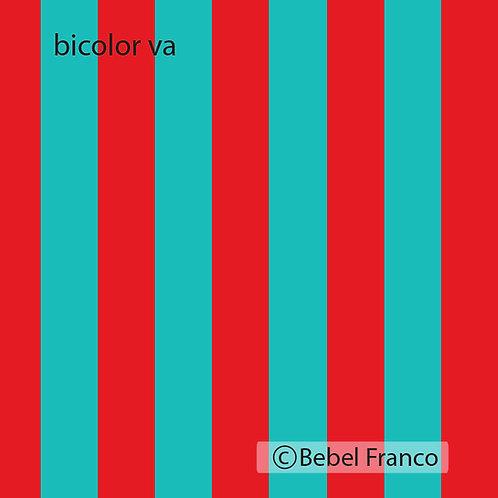 papel de parede listra bicolor vermelho e azul