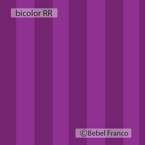 Tecido com estampa para decoração listrada bicolor roxa