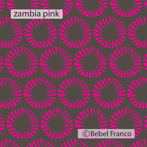 Tecido com estampa para decoração - zambia pink