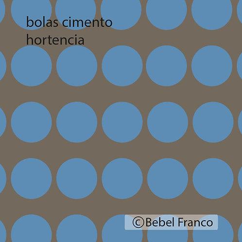 papel de parede bolas cimento hortencia