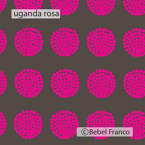 Tecido com estampa para decoração - uganda rosa