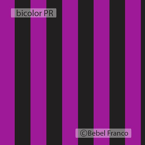 Papel de parede listra Bicolor Preto e Roxo