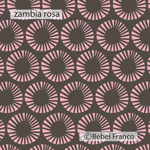 Tecido com estampa para decoração - zambia rosa
