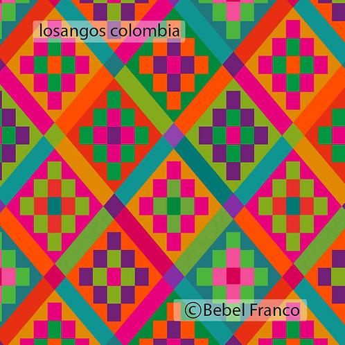 Tecidos com estampa para decoração losangos colombia