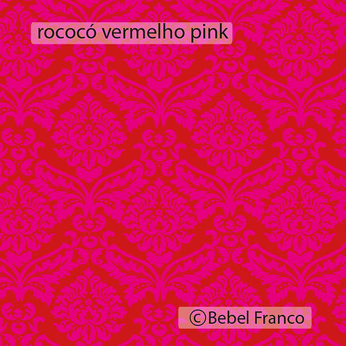 papel de parede rococó vermelho pink