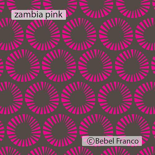 papel de parede para decoração zambia pink