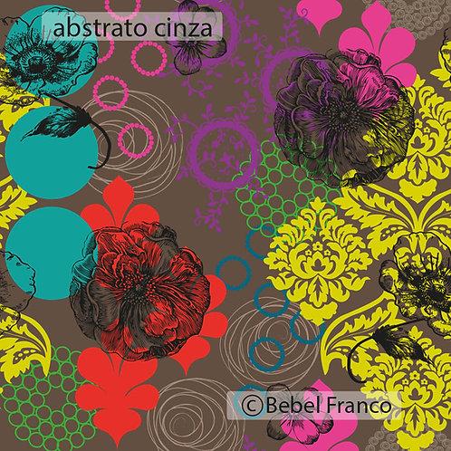 Tecido com estampa para decoração - abstrato cinza