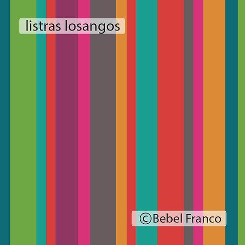 papel de parede listras coloridas losangos