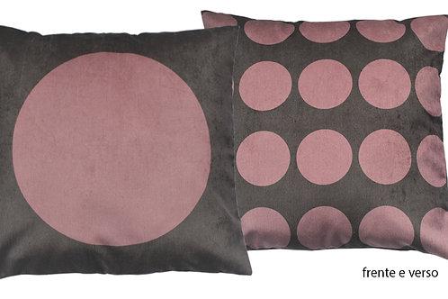 capa de almofada dupla face bola unica rosa