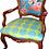 Thumbnail: Tecido com estampa para decoração - chinesa azul