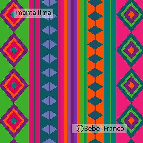 Tecido com estampa para decoração manta lima